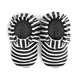 Z is for Zebra • 100% American leather moccasins for babies & toddlers • Made in US