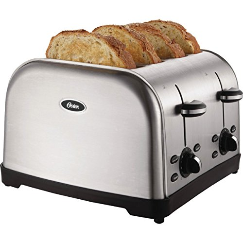 2 pcs Oster 4-Slice Toaster Brushed Stainless Steel 4 Slice Extra Wide Slots - Advanced Toasting Technology (Toaster Pc compare prices)