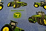 John Deere Tractor Farm Denim Look Baby Blanket Toddler Blanket 28x44