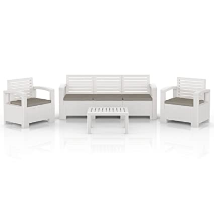 BICA Nevada plastic mobili da giardino set mobili salotto bianco