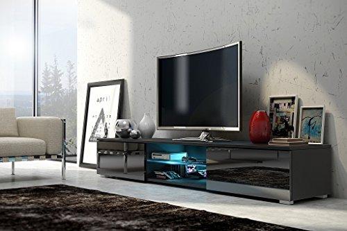 TV-Schrank-Nessy-schwarz-matt-glnzend-schwarz