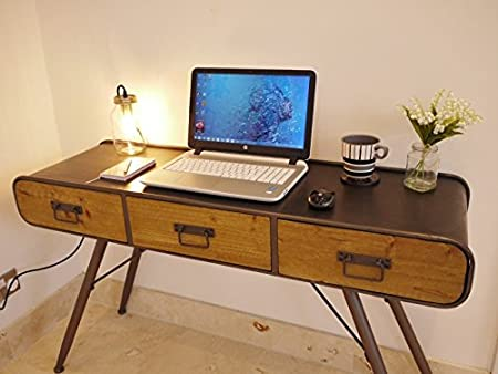 Retro industrial Desk with Drawers