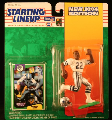 EMMITT SMITH / DALLAS COWBOYS 1994 NFL Starting Lineup Action Figure & Exclusive NFL Collector Trading Card - 1