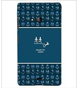 PrintDhaba Quote D-3632 Back Case Cover for MICROSOFT LUMIA 540 (Multi-Coloured)