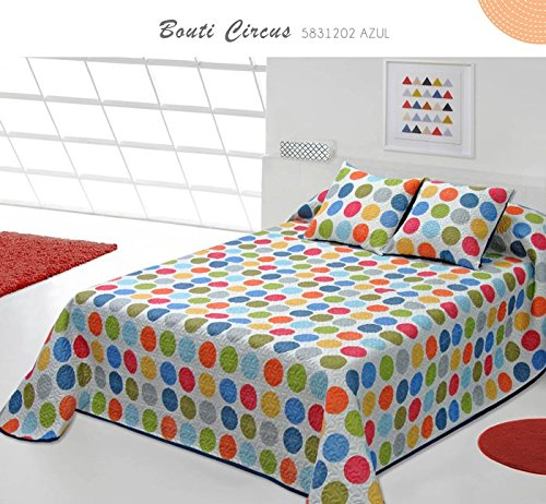 Colcha BOUTI Estampado Basic CIRCUS MULTICOLOR 250X255 HOME SECRET