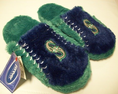 Seattle Mariners MLB Plush Slide Slippers at Amazon.com