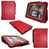 "Slim Fit Leather Standing Case for Kindle Fire HD 7-Inch Tablet (will only fit Kindle Fire HD 7"") (Red)"