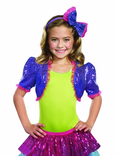 [SugarSugar Dance Craze Bolero Shrug, Purple, Medium/Large] (Gaga Dance Costumes)