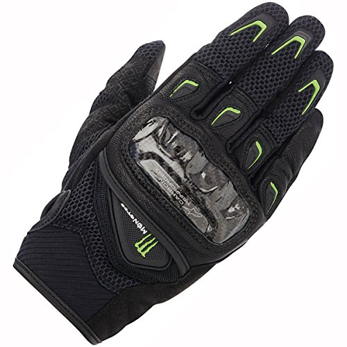 Motorcycle Alpinestars Monster Gloves M30 - Black Green UK multicolor negro/verde Talla:large