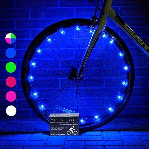 Activ Life Bike Wheel Lights (1 Tire, Blue) Best Christmas Cool Presents, Stocking Stuffers & Birthday Gifts for Boys 4 5 6 7 8 9 10 Year Old & Men. Top Unique 2018 Ideas for Him, Dad, Brother, Uncle (Color: Blue, Tamaño: 1-Wheel)