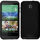 Custodia in Silicone per HTC Desire 510 - S-Style nero - Cover PhoneNatic
