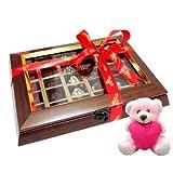 Valentine Chocholik Premium Gifts - Tempting Chocolate Box With Teddy