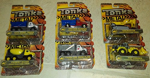 Tonka Metal Diecast Construction Crew Set of 6: Excavator