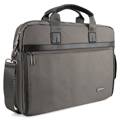 156-inch-laptop-bag-evecase-messenger-chromebook-carrying-case-gray-with-handles-shoulder-strap-and-
