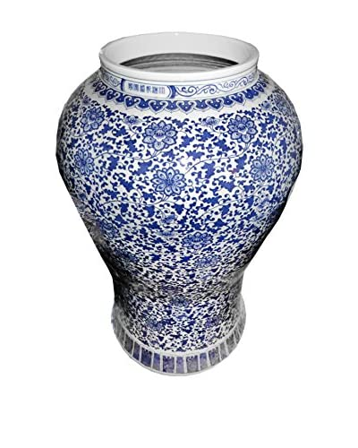 Colossal Ceramic Vase, Blue/White