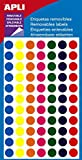 Gommettes repositionnables - Rond Ø 8 mm - 308 pastilles - APLI AGIPA