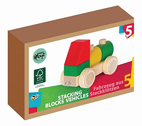 VARIS toys bunter Holzzug Holzeisenbahn 5 Teile