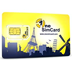OneSimCard Plus - Pre-paid International 3-in-one SIM Card for Over 200 Countries with $10 credit - Compatible with All GSM Unlocked Phones (micro, nano, and regular size sim card phones)-Retail Packaging
