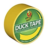Duck Brand 1304966 Colored Duct Tape, Yellow, 1.88-Inch by 20 Yards, Single Roll