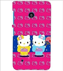 PrintDhaba Kitties D-3862 Back Case Cover for NOKIA LUMIA 530 (Multi-Coloured)