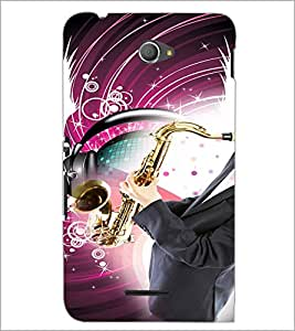 PrintDhaba Trumpet D-3047 Back Case Cover for SONY XPERIA E4 (Multi-Coloured)