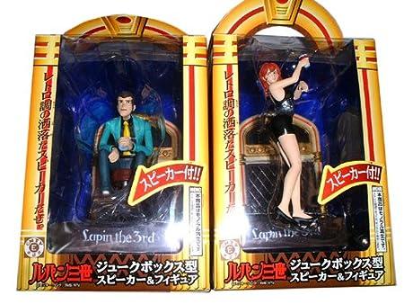 All two Lupin juke box type speaker & figures (japan import)