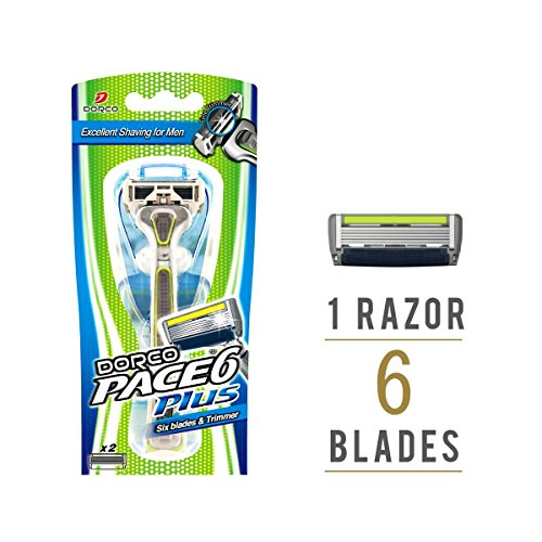 dorco-pace-6-razor-for-men-with-trimmer-the-first-6-blade-razor-in-the-world-with-six-6-blade-replac