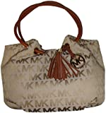 Michael Kors Medium East West Signature Ring Tote Beige/Camel/Luggage