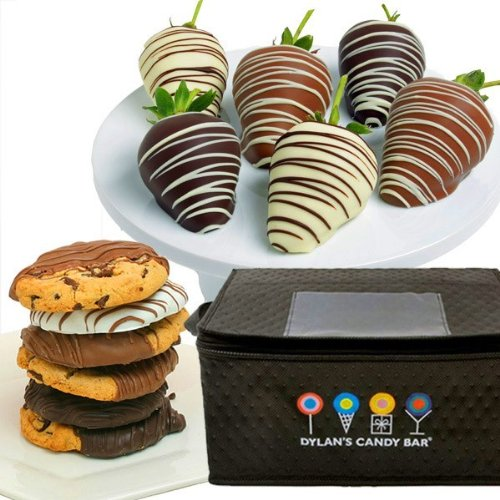 Dylan's Candy Bar Chocolate-Covered Strawberries & Gourmet Chocolate-Dipped Cookies