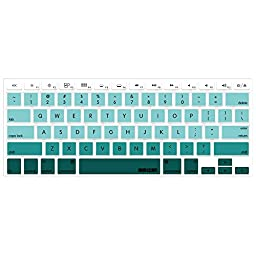 iBenzer - Macaron Serie Keyboard Cover Silicone Rubber Skin for Macbook Pro 13\'\' 15\'\' 17\'\' (with or without Retina Display) Macbook Air 13\'\' and iMac - Gradual Green MKC02GGN