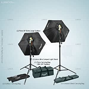 Linco Flora 2000 Watt 2 Head Fluorescent Kit with Softboxes