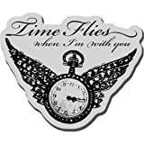 USA Wholesaler - 10953419 - Stampendous Cling Rubber Stamp-Winged Timepiece