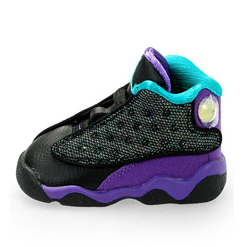 Nike Air Jordan 13 Retro Toddler (Black / Atomic Teal / Ultra Violet / White) 414581-027 (2) front-1054885