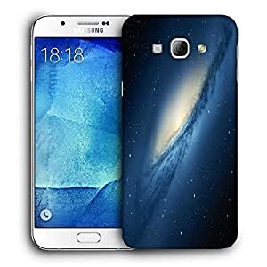 Snoogg Blue Galaxy Printed Protective Phone Back Case Cover For Samsung Galaxy Note 5
