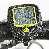 サイクルコンピューター Idealeben 多機能自転車コンピューター ワイヤレスサイクルメーター  スピードメーター 走行距離計 走行時間計 防水式 LCDバックライト付き