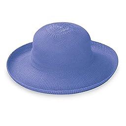 Wallaroo Women\'s Victoria Sun Hat - Lightweight and Packable Straw Hat, Hydrangea