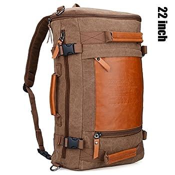 Witzman Men's Retro Canvas Travel Duffel Bag