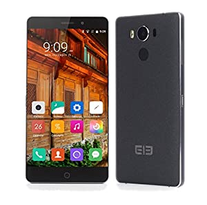 [Official Store] Elephone P9000 Smartphone 5.5 inch FHD 1.6mm Ultra Narrow Bezel 4G LTE Android 6.0 Helio P10 Octa Core MTK6755 2.0GHz Touch ID4GB RAM 32GB ROM Sony Dual Cameras 8MP 13MP Black
