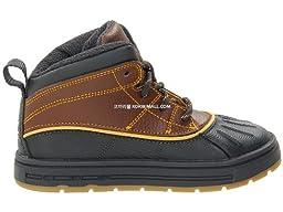 Nike Woodside Rainboot 2 High (TD) Size 5 Dk. Gld Lf/Anhrct