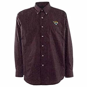 Jacksonville Jaguars Esteem Button Down Dress Shirt (Team Color) by Antigua