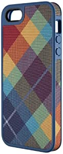 Speck Products FabShell Fabric-Covered Case for iPhone 5 & 5S - Retail Packaging - MegaPlaid Spectrum