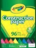 Crayola Construction Paper, Assorted Colors, 96 count (99-3000)