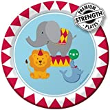 Creative Converting Circus Time Round Dessert Plates, 8 Count