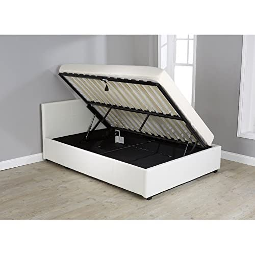 Seattle Ottoman Storage Bed Side Lift Up Opening - Black, Brown, White 3ft, 4ft, 4ft6 or 5ft