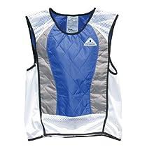 TechNiche International Ultra Evaporative Cooling Sport Vest, Medium, Blue/Silver