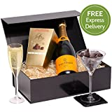Veuve Clicquot & Truffles Gift Set - Ultimate Luxury Champagne Gift - Valentines Day Hamper - Free UK Express Delivery