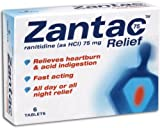 Zantac 75 Heartburn Relief Tablets 75mg - Pack of 6