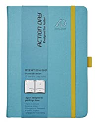 Action Day Planner Academic Calendar, 6 x 8 Inches, Turquoise : 2016-2017