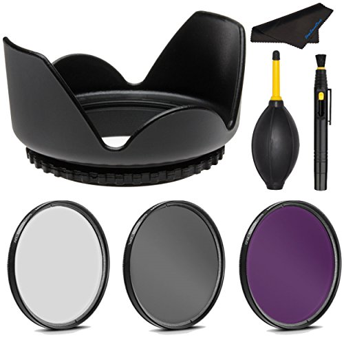 PRO 62mm Filter Kit + PRO 62 mm Tulip Lens Hood for Olympus M.Zuiko Digital ED 12-40mm 1:2.8 PRO - 62 mm Polarizing Filter, 62mm UV Filter, 62mm Florescent Filter & 62mm Flower Lens Shade Hood (40mm Espresso Tamper compare prices)