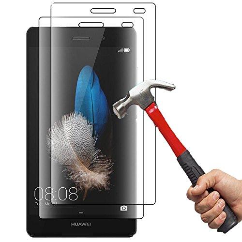 Huawei P8 Lite Vidrio Templado Protector de Pantalla, [2 Pack] Ohero Vidrio templado Protector de pantalla de vidrio Huawei P8 Lite Trabajo con Huawei P8 Lite Caso más protector